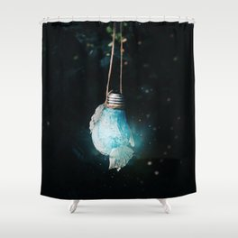 birth of the light Shower Curtain