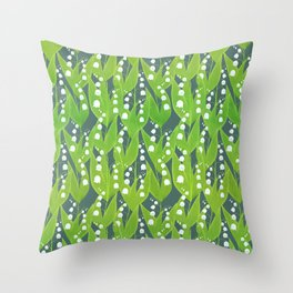 Lily of the Valley Pattern Throw Pillow