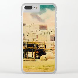 Dreaming of Taos Pueblo Clear iPhone Case