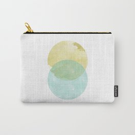 duality: yellow & teal Carry-All Pouch