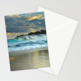 BEACH AND WAVES Stationery Cards