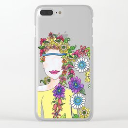 Eighties Girl Clear iPhone Case