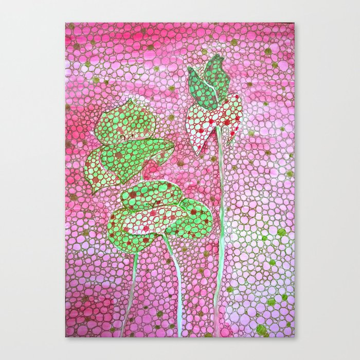 Welcome Spring, abstract flowers Canvas Print