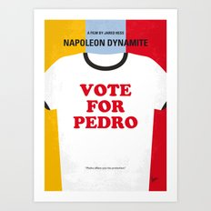 No430 My Napoleon Dynamite minimal movie poster Art Print