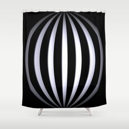 black-and-white -03- Shower Curtain