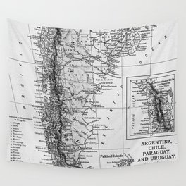 Vintage Map of Argentina (1911) Wall Tapestry