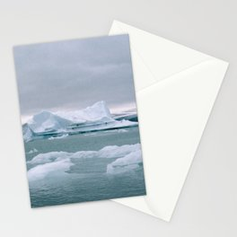 ICELAND WITH ICEBERGS IS INCREDIBLE ICY Stationery Cards