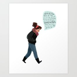Pep Talk Art Print