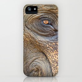 Close-up Elephant eye iPhone Case