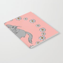 Daisy Chinchilla Flower Crown Border Notebook