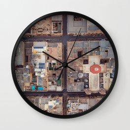 Valletta City Streets | Malta Aerial Photography  Wall Clock