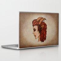 capricorn Laptop & iPad Skins featuring Capricorn by redrockit