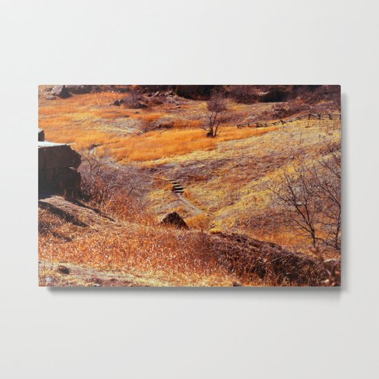 Valley in orange Metal Print