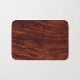 Beautiful Unique mahogany red wood veneer design Bath Mat