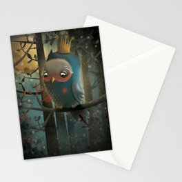 King Owl Stationery Cards