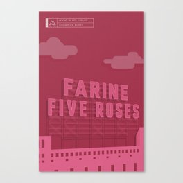 Made in MTL 0004: Five Roses Canvas Print