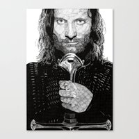 aragorn Canvas Prints featuring Aragorn by Rik Reimert