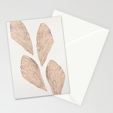 Cicada Wings in Rose Gold Stationery Cards