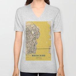 Maracaibo Yellow City Map Unisex V-Neck