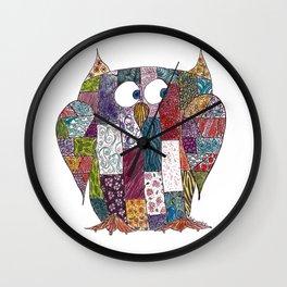 Logcabin Owl Wall Clock