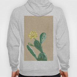Green Cacti with Tan Background - Botanical Cactus Hoody