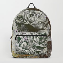Of Suffering: Autumn (dark lady portrait with roses) Backpack