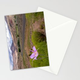 Mariposa Lily standing tall over John Day Fossil Beds Stationery Cards