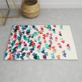 Heart Connections - watercolor painting Rug