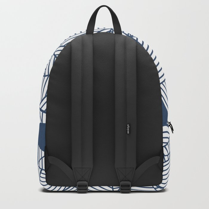 Abstract Mountain Navy Backpack