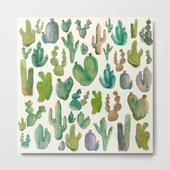 Cactus Collab. Metal Print