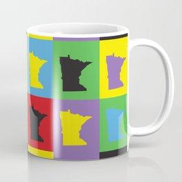 Minnesota Retro Pop Art Pattern Coffee Mug