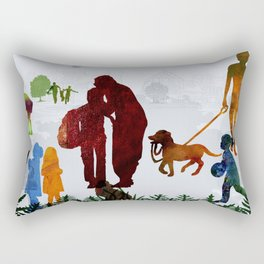 Children and Parents Rectangular Pillow