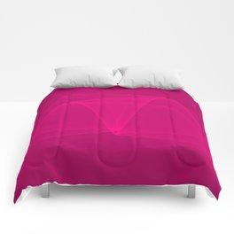 Abstract #4 (Fuchsia/DarkMagenta) Comforters