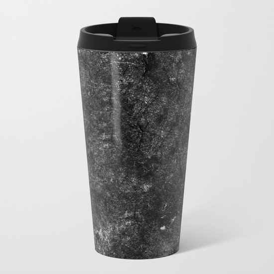 Starry Black Marble Metal Travel Mug