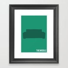 The Middle - Minimalist Framed Art Print