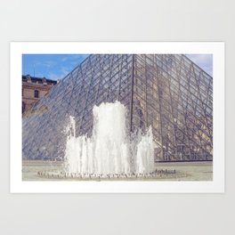 The Louvre and Fountain Art Print