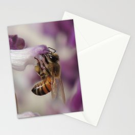 Worker Bee on Mexican Sage Stationery Cards