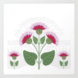 Burdock flowers Art Print