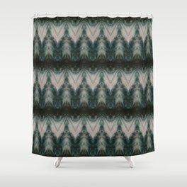 Shades of Green Shibori Shower Curtain