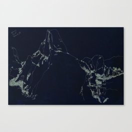 Yosemite Glacier Point Drawing Canvas Print