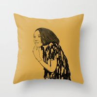 witch Throw Pillows featuring Witch by Skinny Gaviar