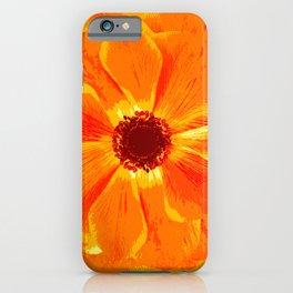 Large Flower in Orange Shades #decor #society6 #buyart iPhone Case