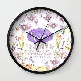 TS Hope Wall Clock