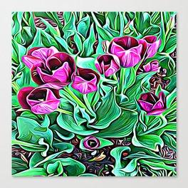 Nurturing Flowers in Pink Canvas Print