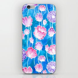 Blues and Pinks iPhone Skin