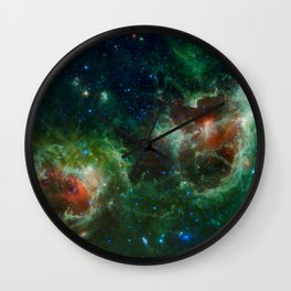 The Heart and Soul nebulae (NASA's Wide-field Infrared Survey Explorer) Wall Clock