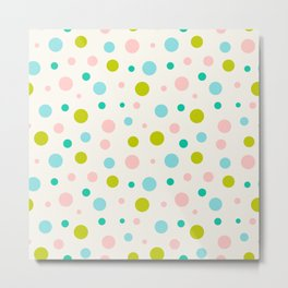 Multicolor circles over beige Metal Print
