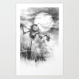 The Makeshift Scarecrow Art Print