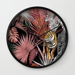 Jungle Tiger 02 Wall Clock