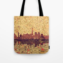 Paris skyline  Tote Bag